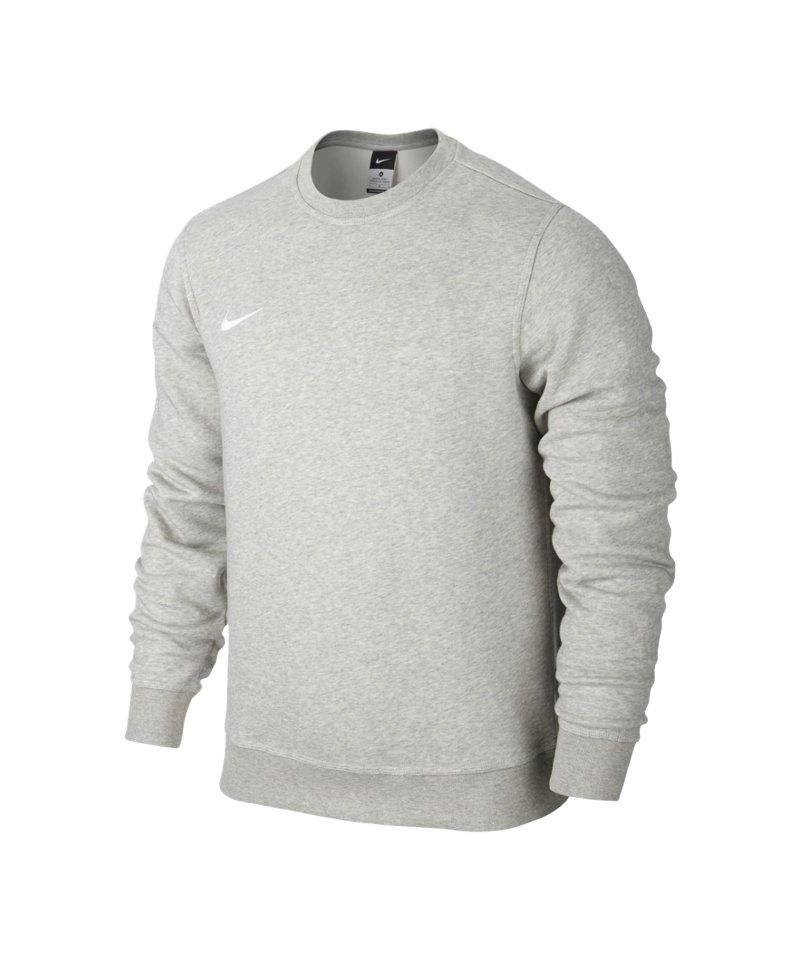Nike Crew Sweatshirt Team Club F050 Grau Weiss - grau