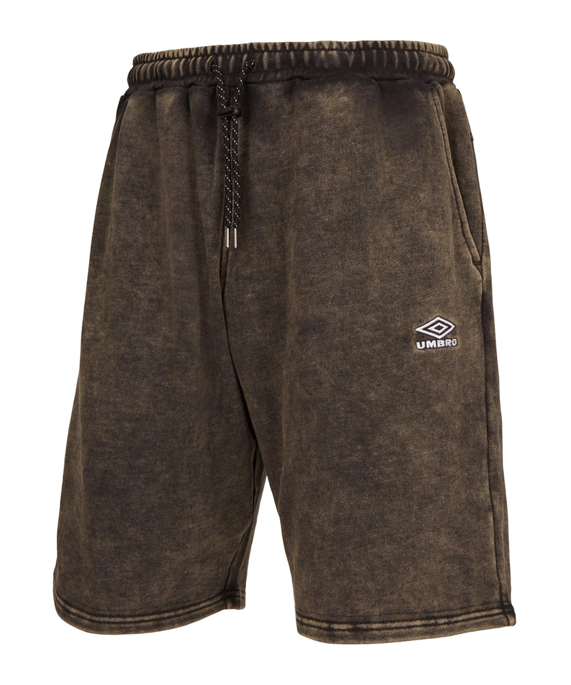 Umbro Washed Knee Length Short Schwarz F60 - schwarz