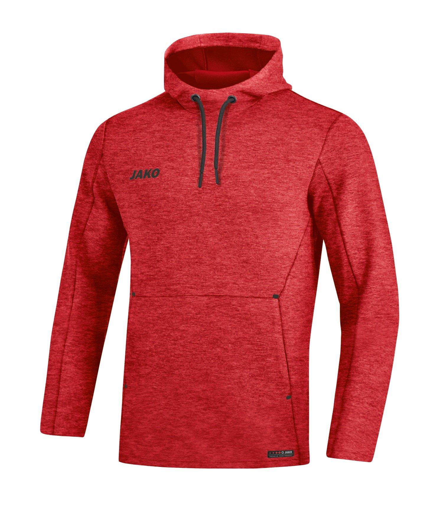 Jako Premium Basic Hoody Damen Rot F01 - rot