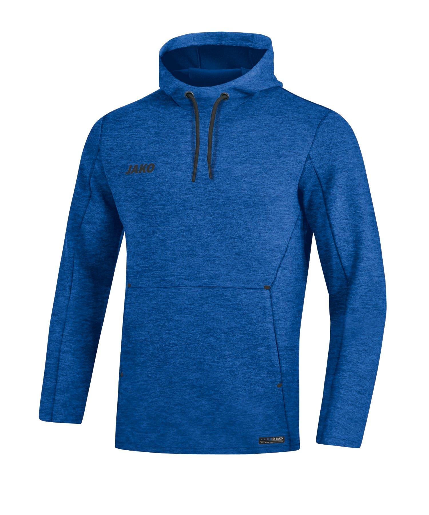 Jako Premium Basic Kapuzensweatshirt Blau F04 - blau