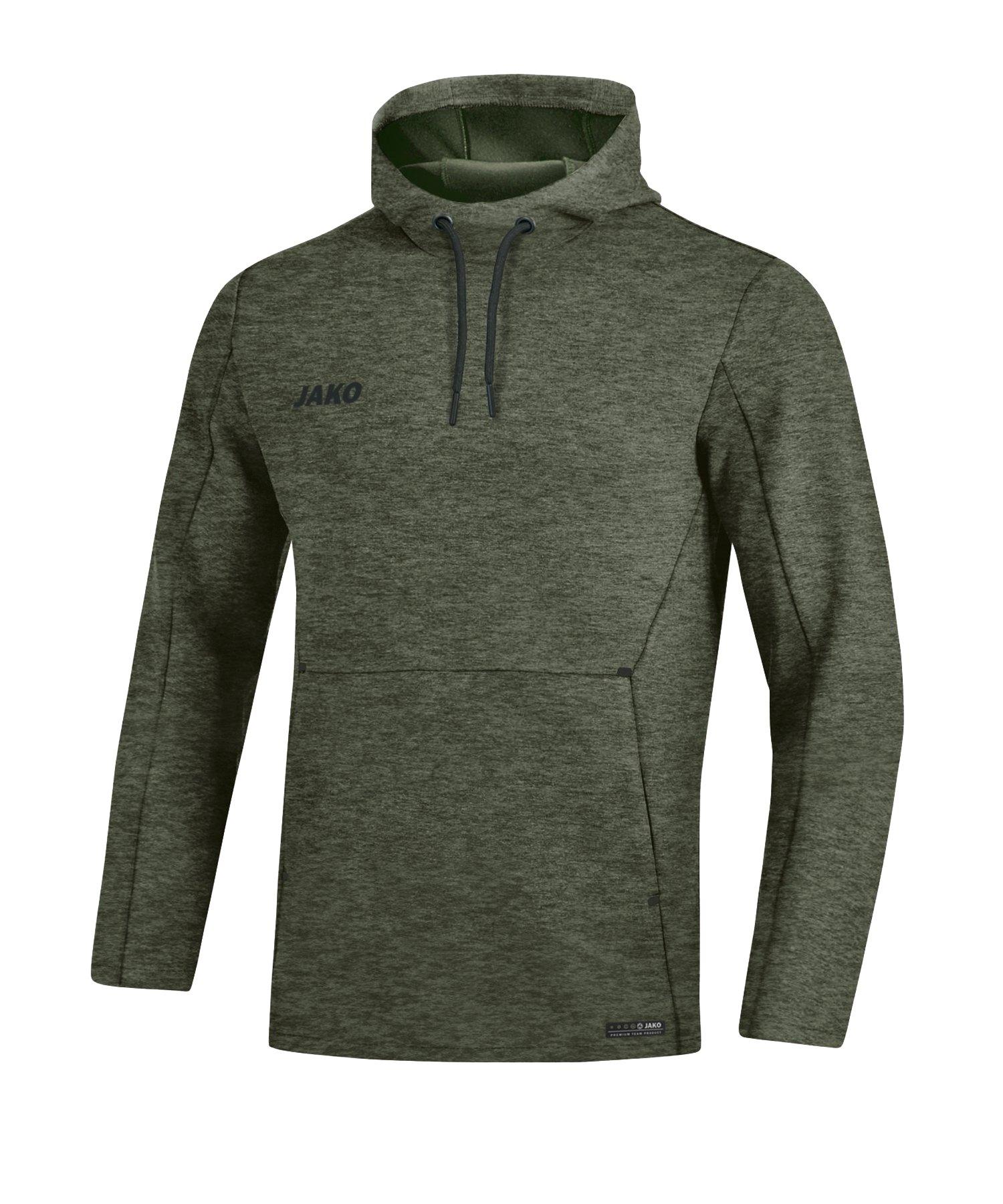 Jako Premium Basic Kapuzensweatshirt Khaki F28 - khaki