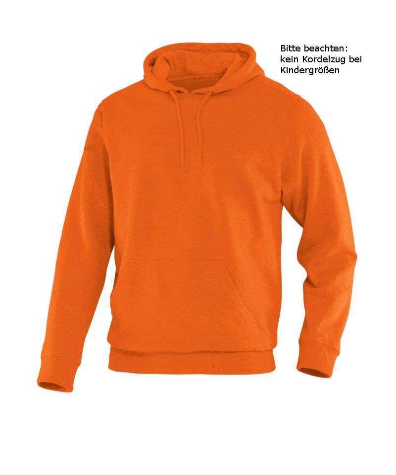 Jako Hoody Team Kapuzensweat Kinder Orange F19 - orange