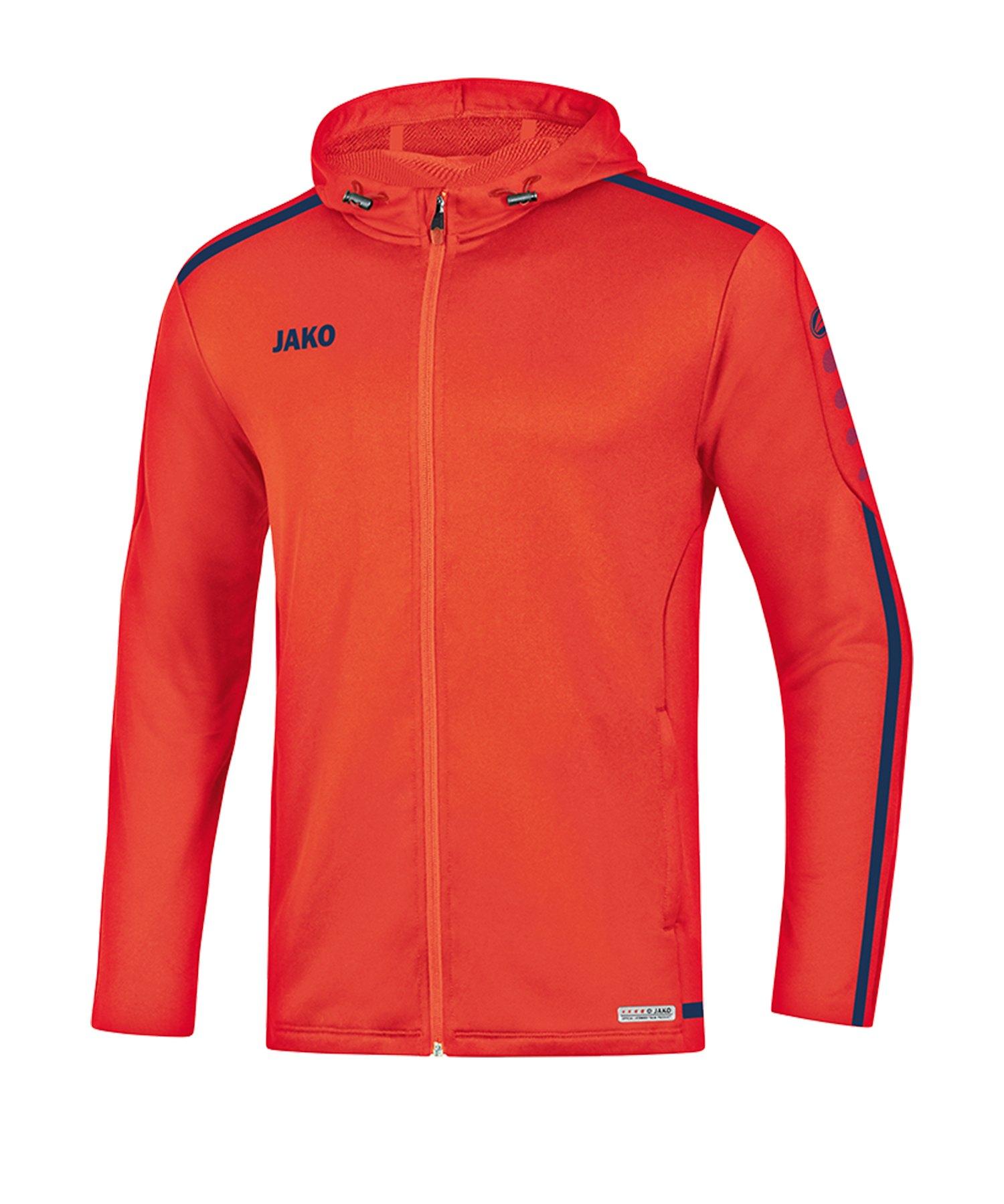 Jako Striker 2.0 Kapuzenjacke Damen Orange F18 - Orange