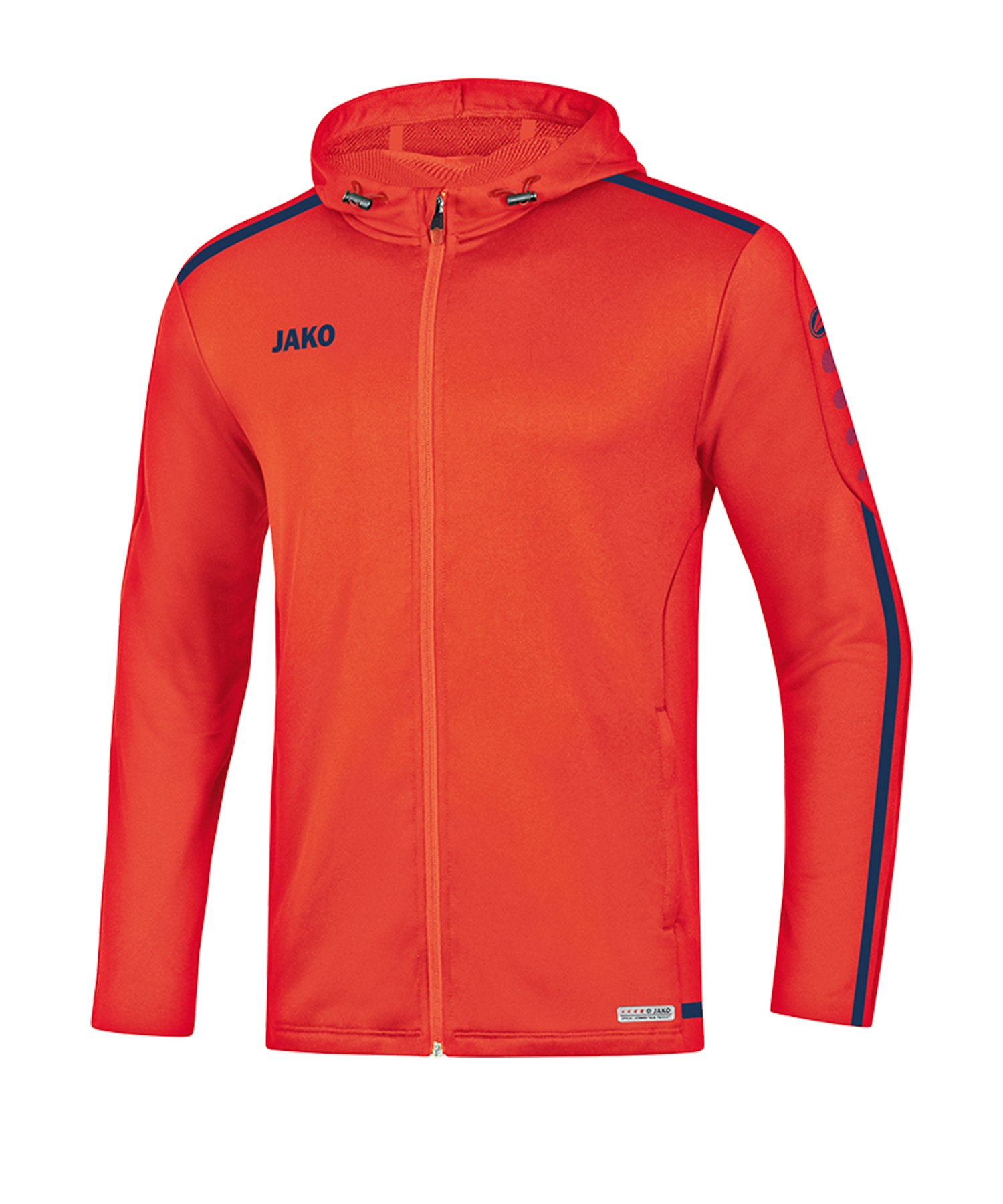 Jako Striker 2.0 Kapuzenjacke Orange Blau F18 - Orange