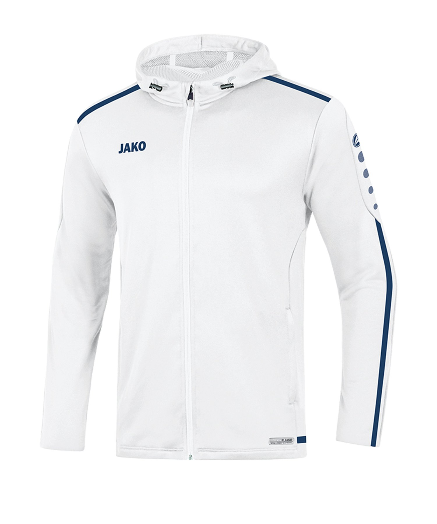 Jako Striker 2.0 Kapuzenjacke Weiss Blau F90 - Weiss