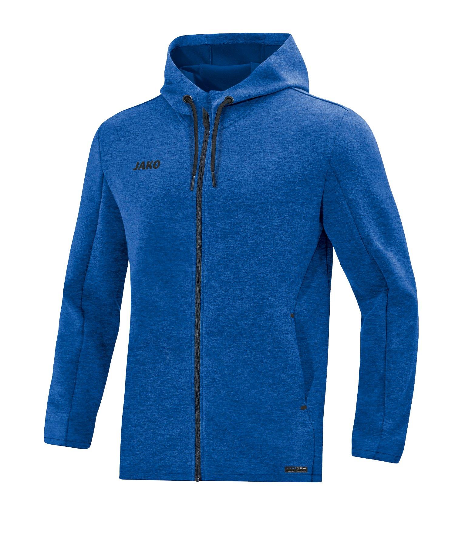 Jako Premium Basic Kapuzenjacke Blau F04 - blau