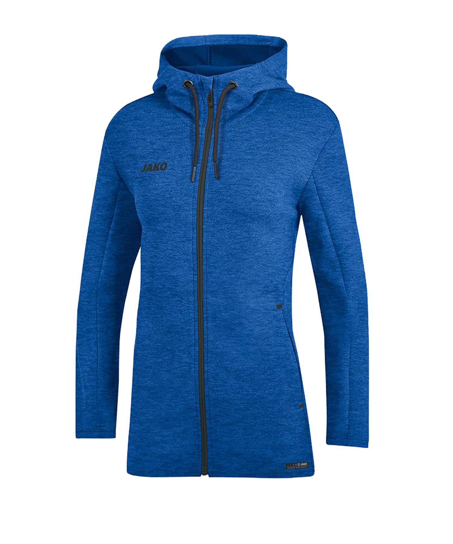 Jako Premium Basic Kapuzenjacke Damen Blau F04 - blau