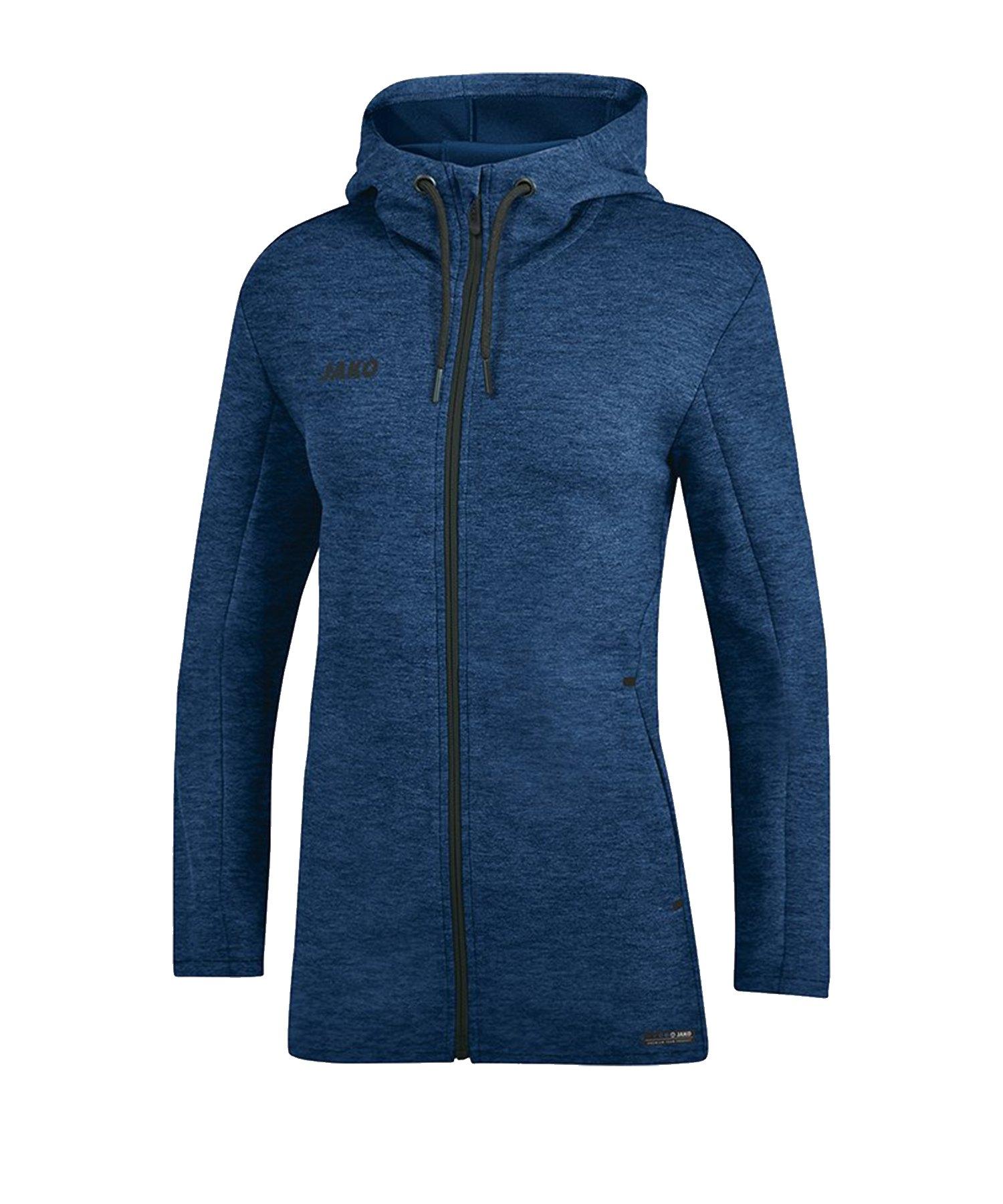Jako Premium Basic Kapuzenjacke Damen Blau F49 - blau