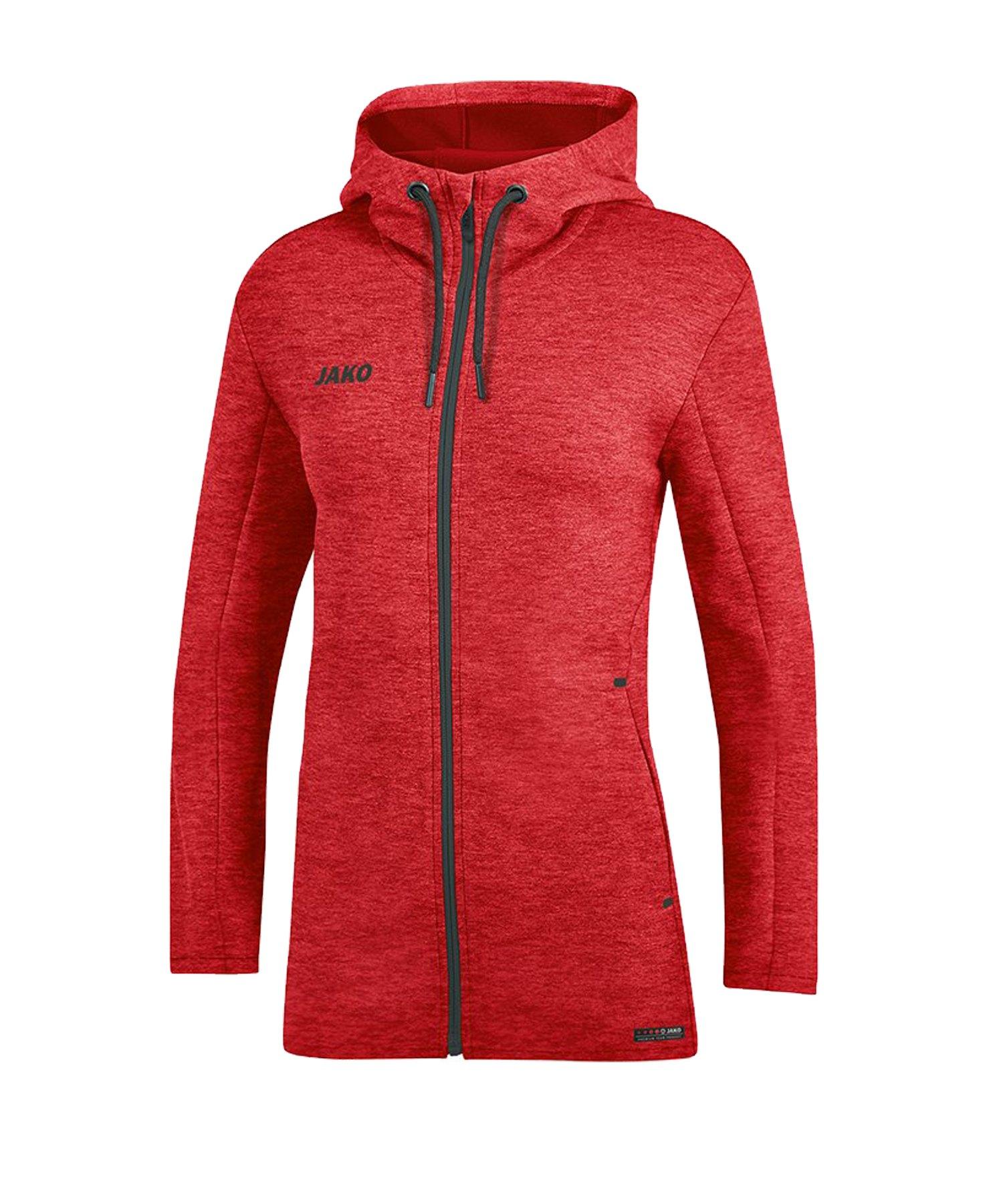 Jako Premium Basic Kapuzenjacke Damen Rot F01 - rot