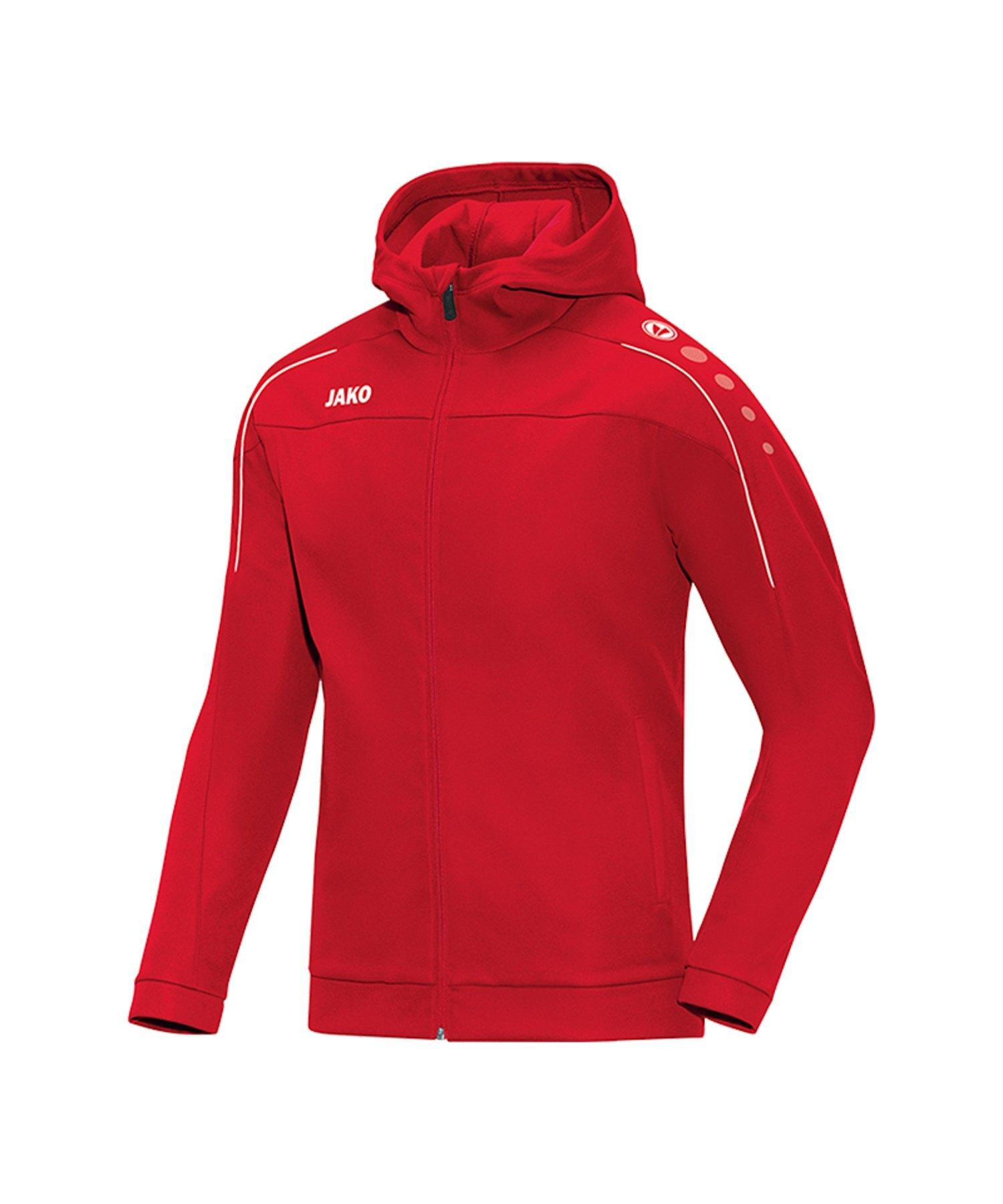 Jako Classico Kapuzenjacke Damen Rot F01 - Rot