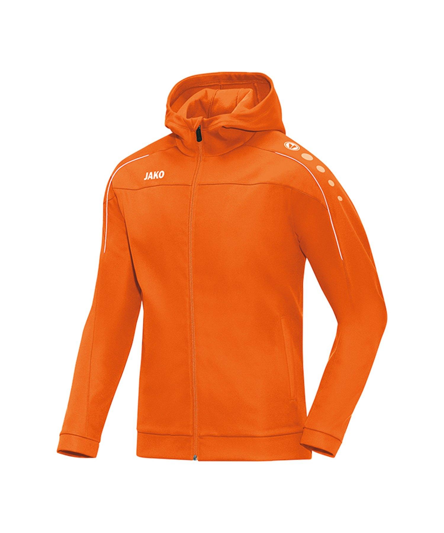 Jako Classico Kapuzenjacke Orange F19 - Orange