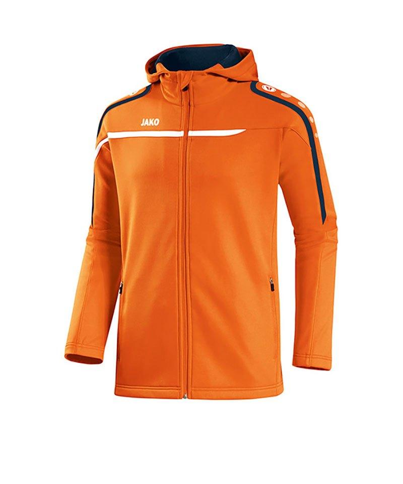 Jako Kapuzenjacke Performance F19 Orange Weiss - orange