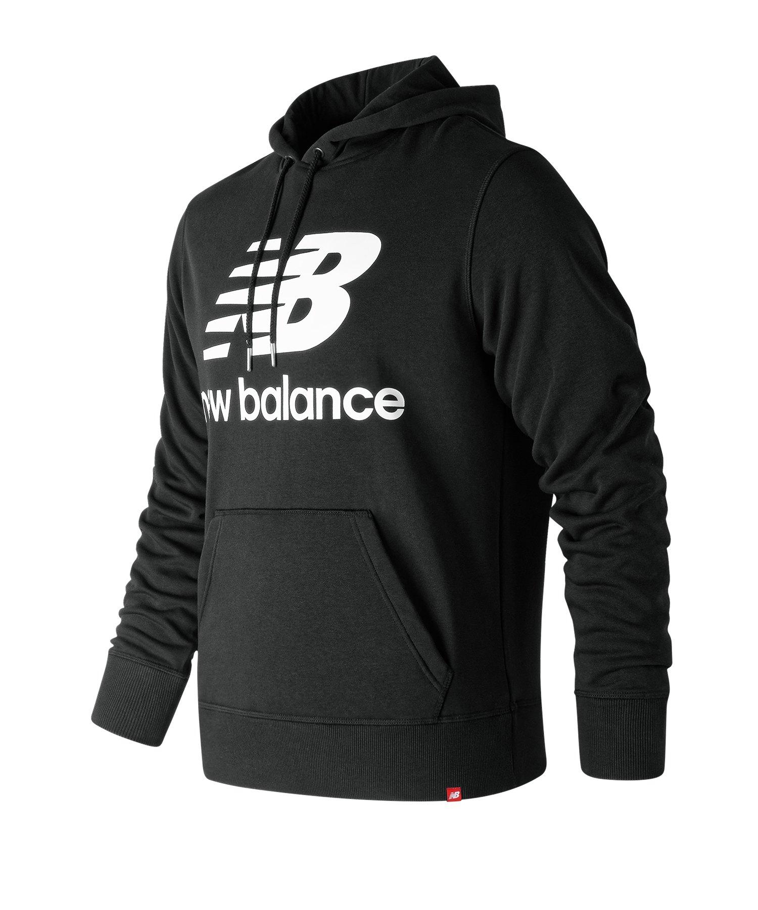 New Balance Essentials Stacked Logo Hoody F8 - schwarz
