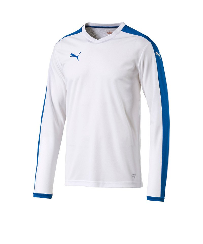 PUMA Langarm Trikot Pitch Kinder Blau F02 - weiss