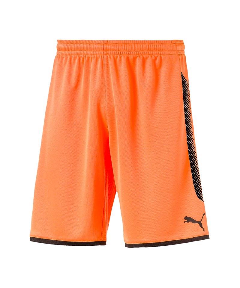 PUMA Torwartshort GK Short Orange Schwarz F44 - orange