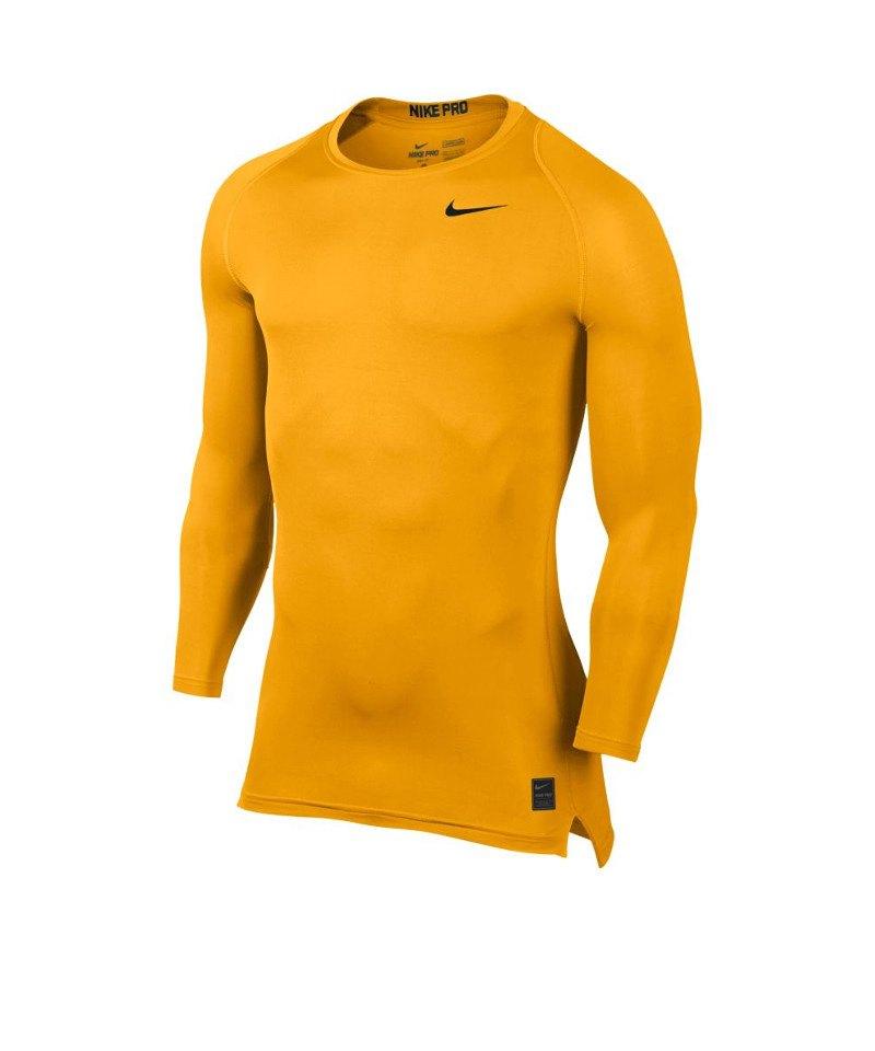 Nike Pro Compression LS Shirt Gelb F739 - gelb