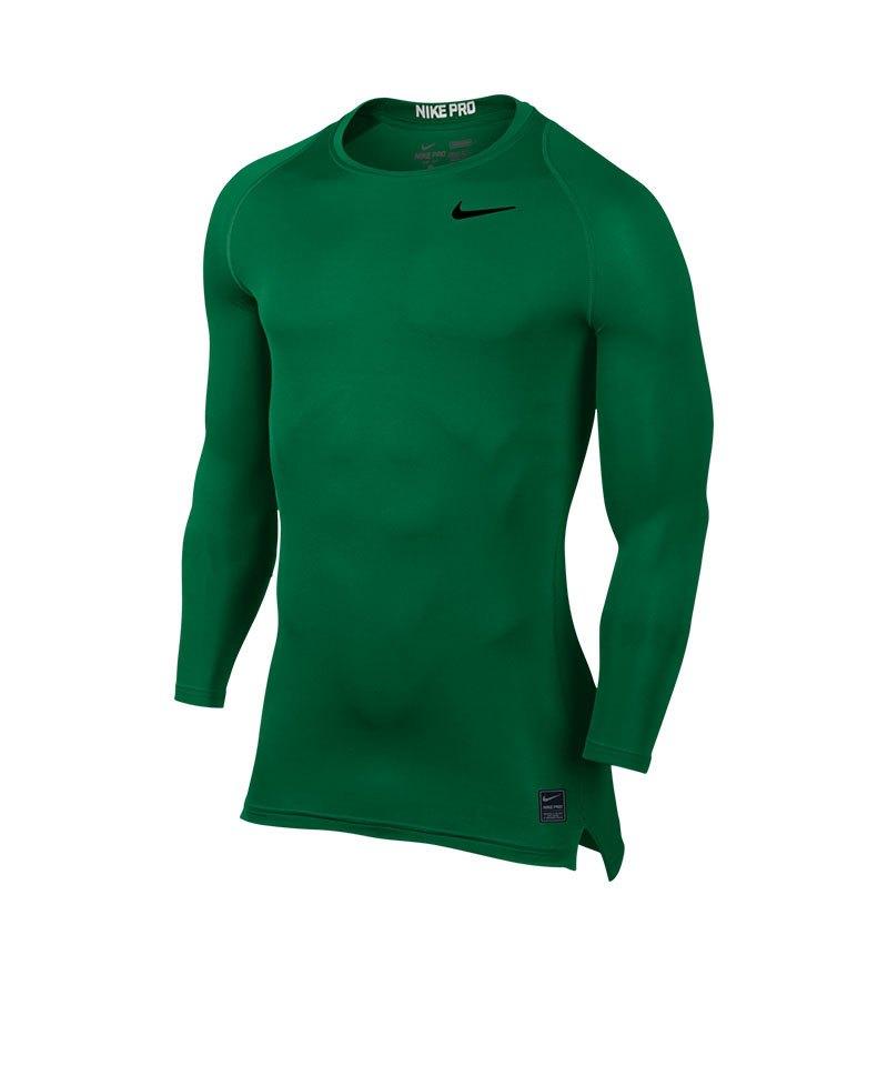Nike Pro Compression LS Shirt Grün F302 - gruen