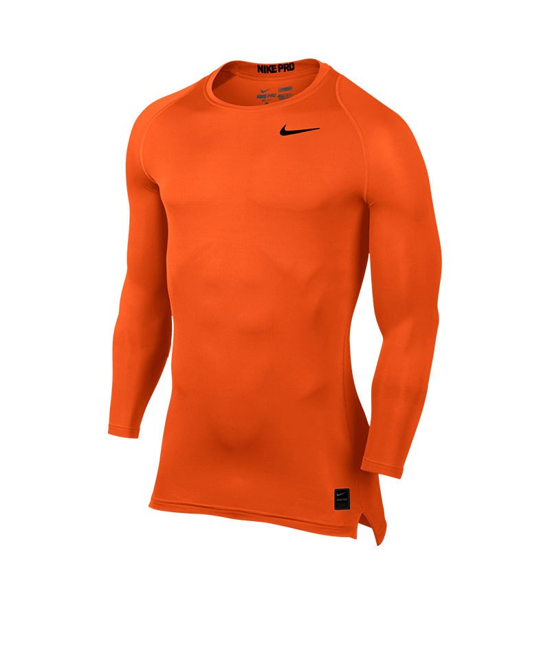 Nike Pro Compression LS Shirt Orange F815 - orange