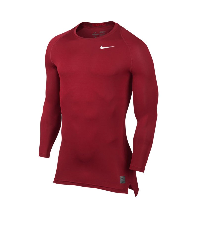 Nike Pro LS Shirt Cool Compression Rot F687 - rot