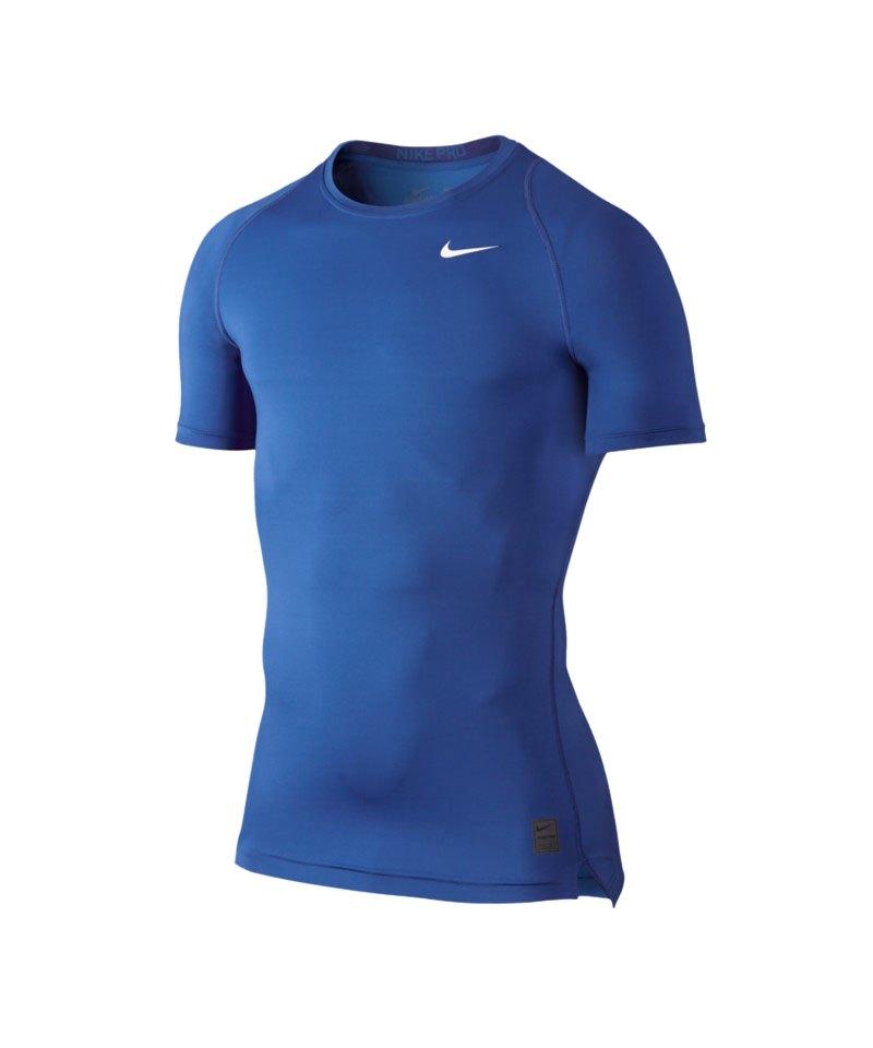 Nike Pro Shortsleeve Shirt Cool Compression F480 - blau
