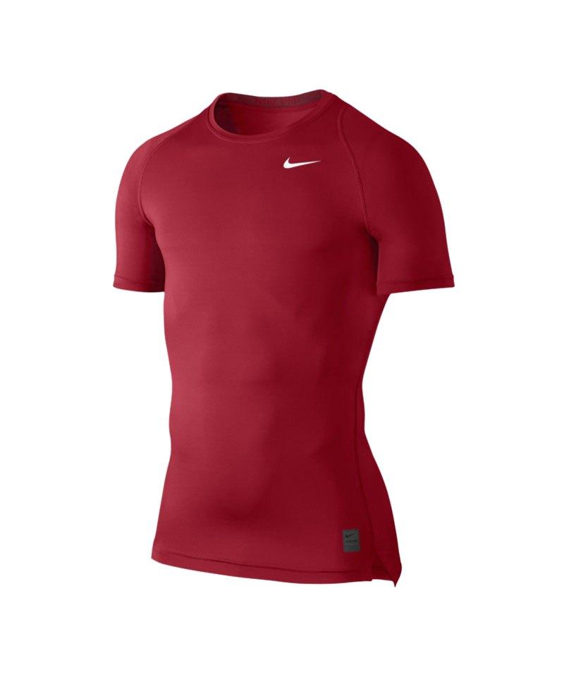 Nike Pro Shortsleeve Shirt Cool Compression F687 - rot