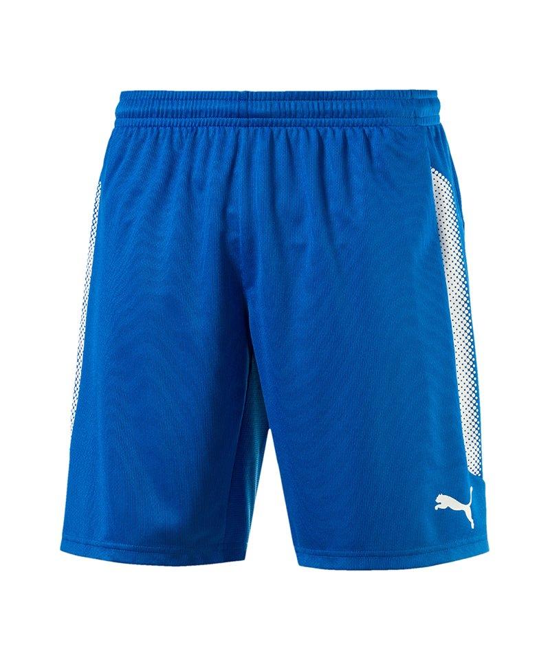 PUMA Short mit Innenslip Striker Blau Weiss F02 - blau