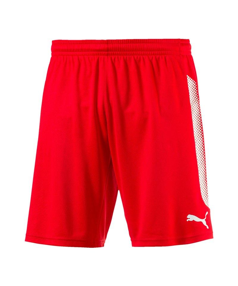 PUMA Short mit Innenslip Striker Rot Weiss F01 - rot