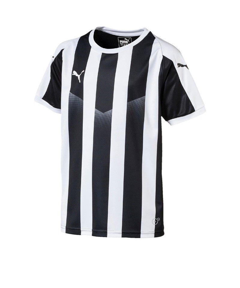 PUMA LIGA Striped Trikot kurzarm Kids Schwarz F03 - schwarz