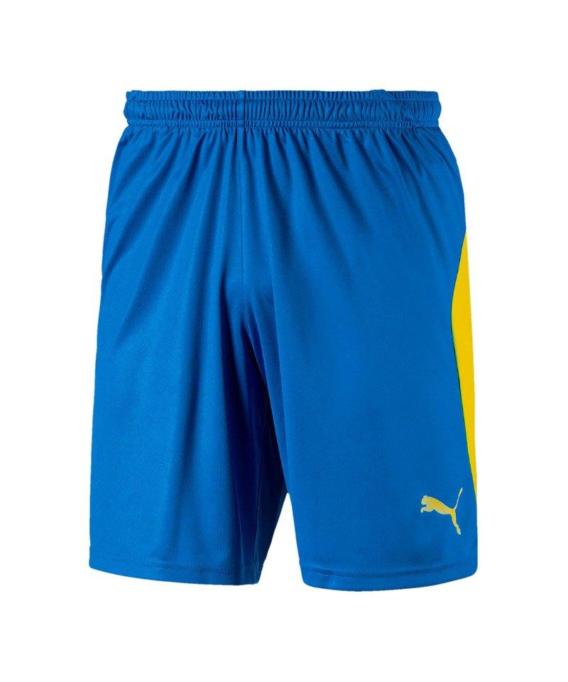 PUMA LIGA Short Blau Gelb F16 - blau