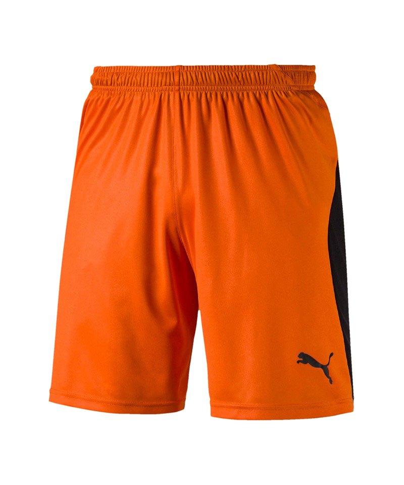 PUMA LIGA Short Orange Schwarz F08 - orange
