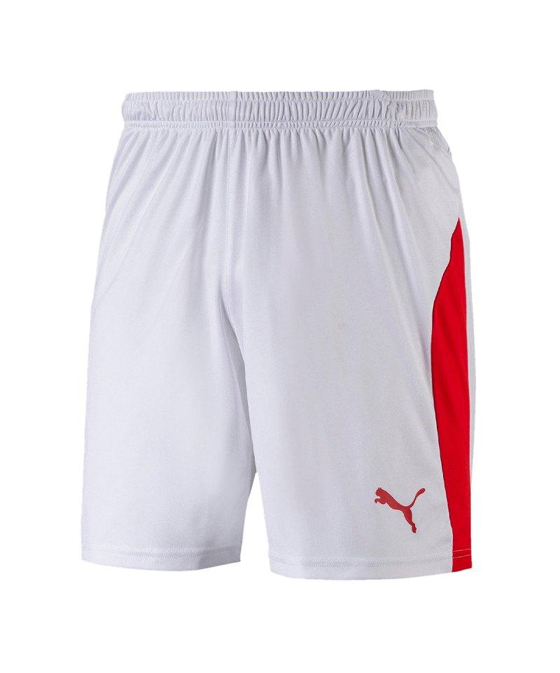 PUMA LIGA Short Weiss Rot F11 - weiss
