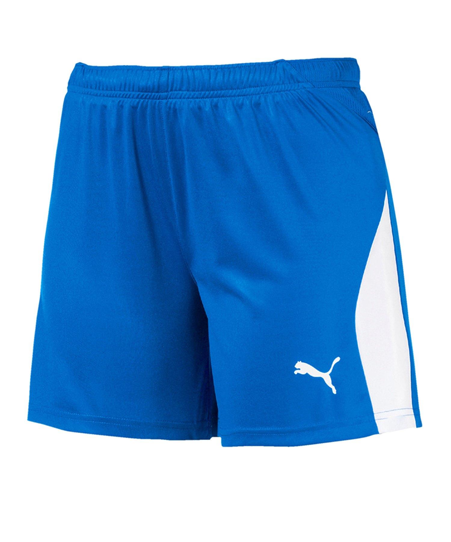 PUMA LIGA Short Damen Blau Weiss F02 - blau