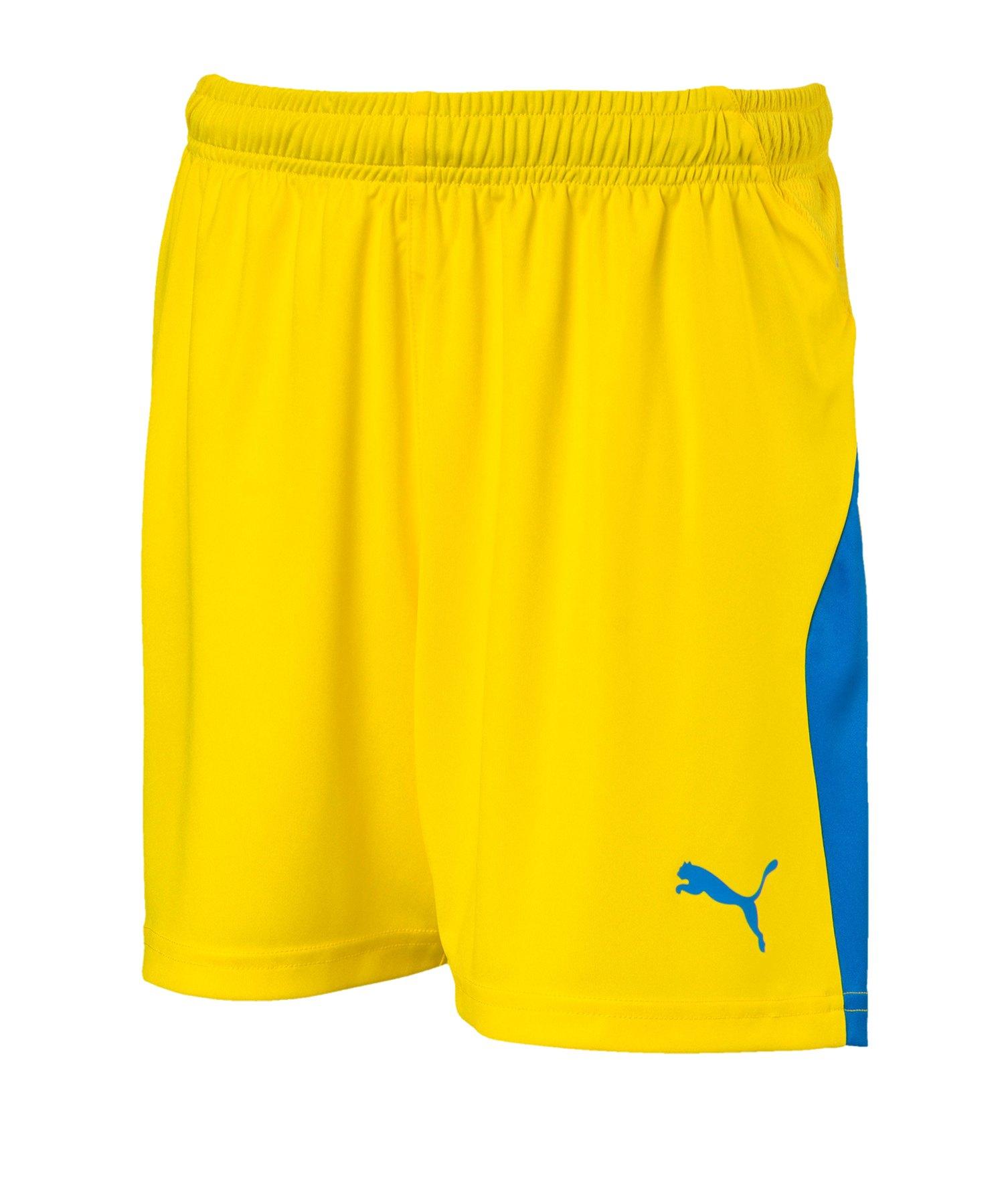 PUMA LIGA Short Kids Gelb Blau F17 - gelb