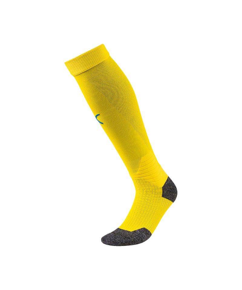 PUMA LIGA Socks Stutzenstrumpf Gelb Blau F17 - gelb