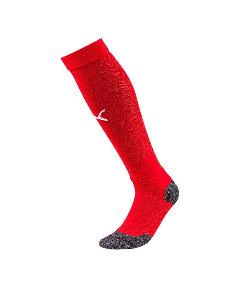 PUMA LIGA Socks Stutzenstrumpf Rot Weiss F01 - rot