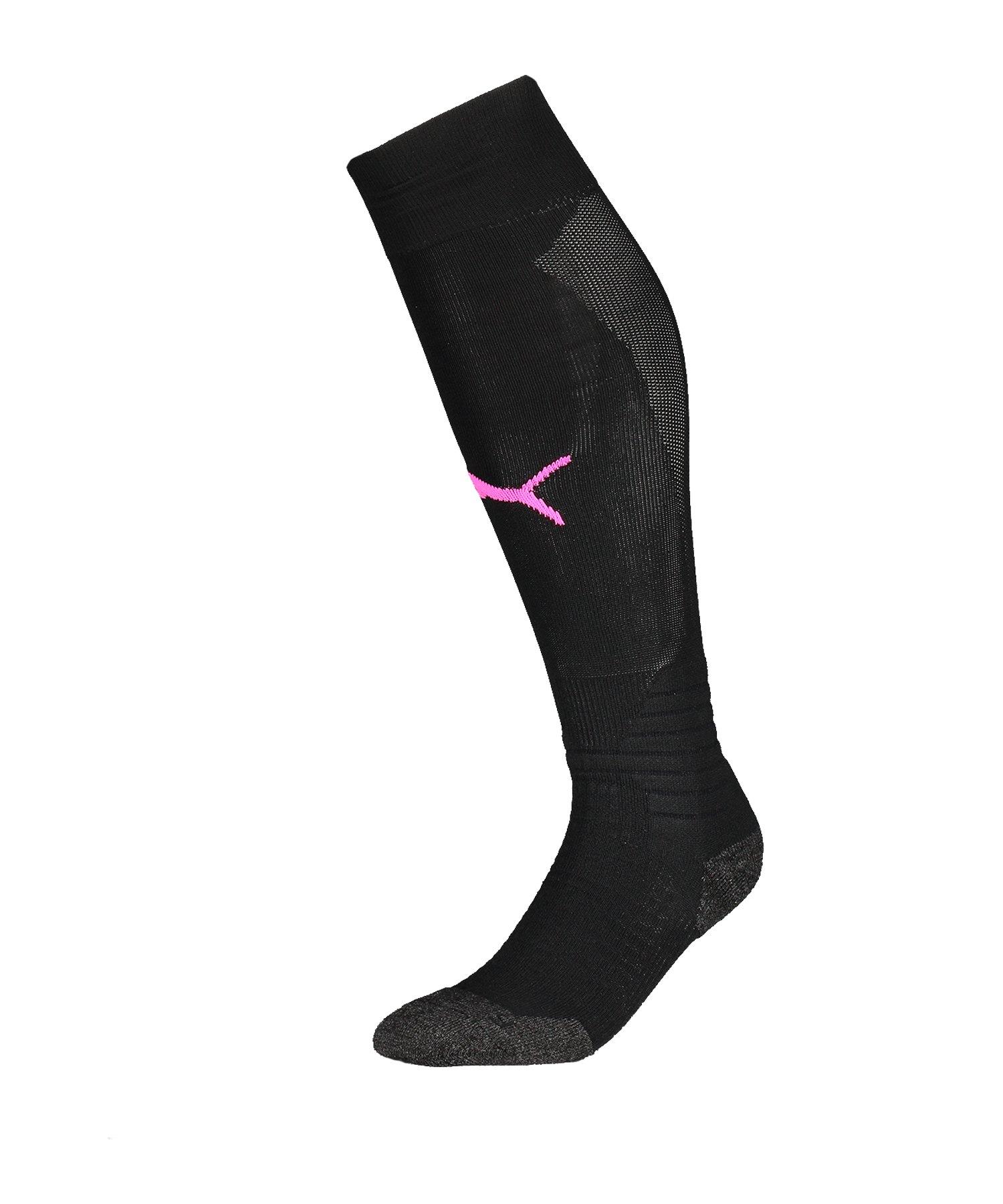 PUMA LIGA Socks Stutzenstrumpf Schwarz Pink F31 - schwarz