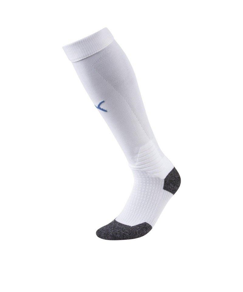 PUMA LIGA Socks Stutzenstrumpf Weiss Blau F12 - weiss