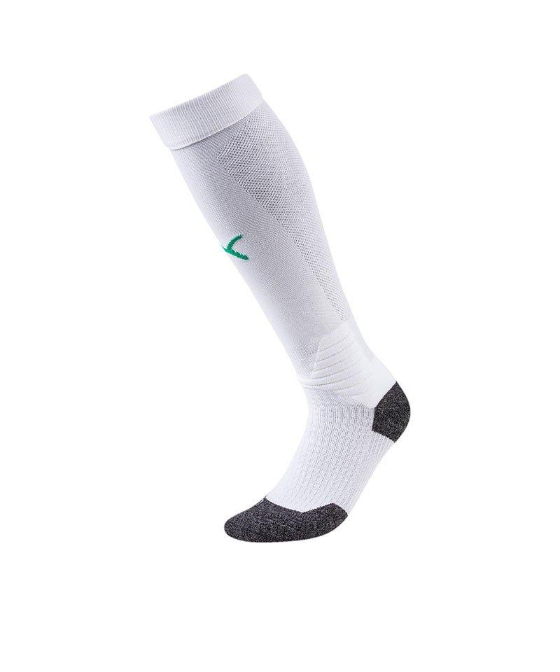 PUMA LIGA Socks Stutzenstrumpf Weiss Grün F15 - weiss