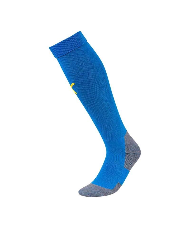PUMA LIGA Socks Core Stutzenstrumpf Blau Gelb F16 - blau