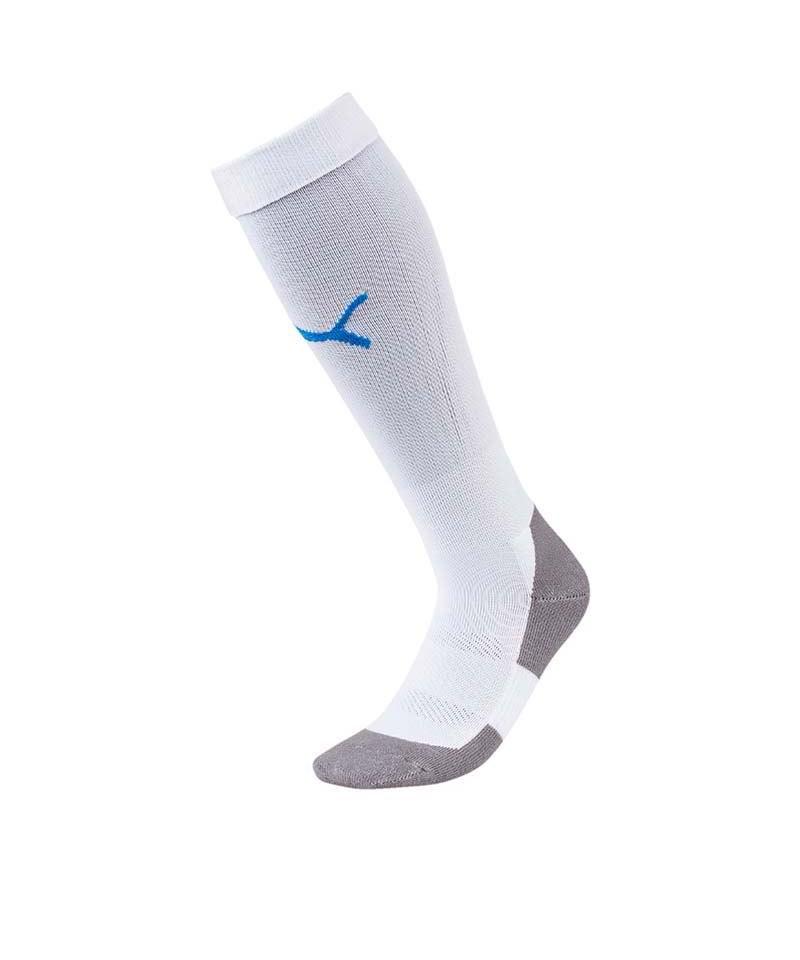 PUMA LIGA Socks Core Stutzenstrumpf Weiss Blau F12 - weiss
