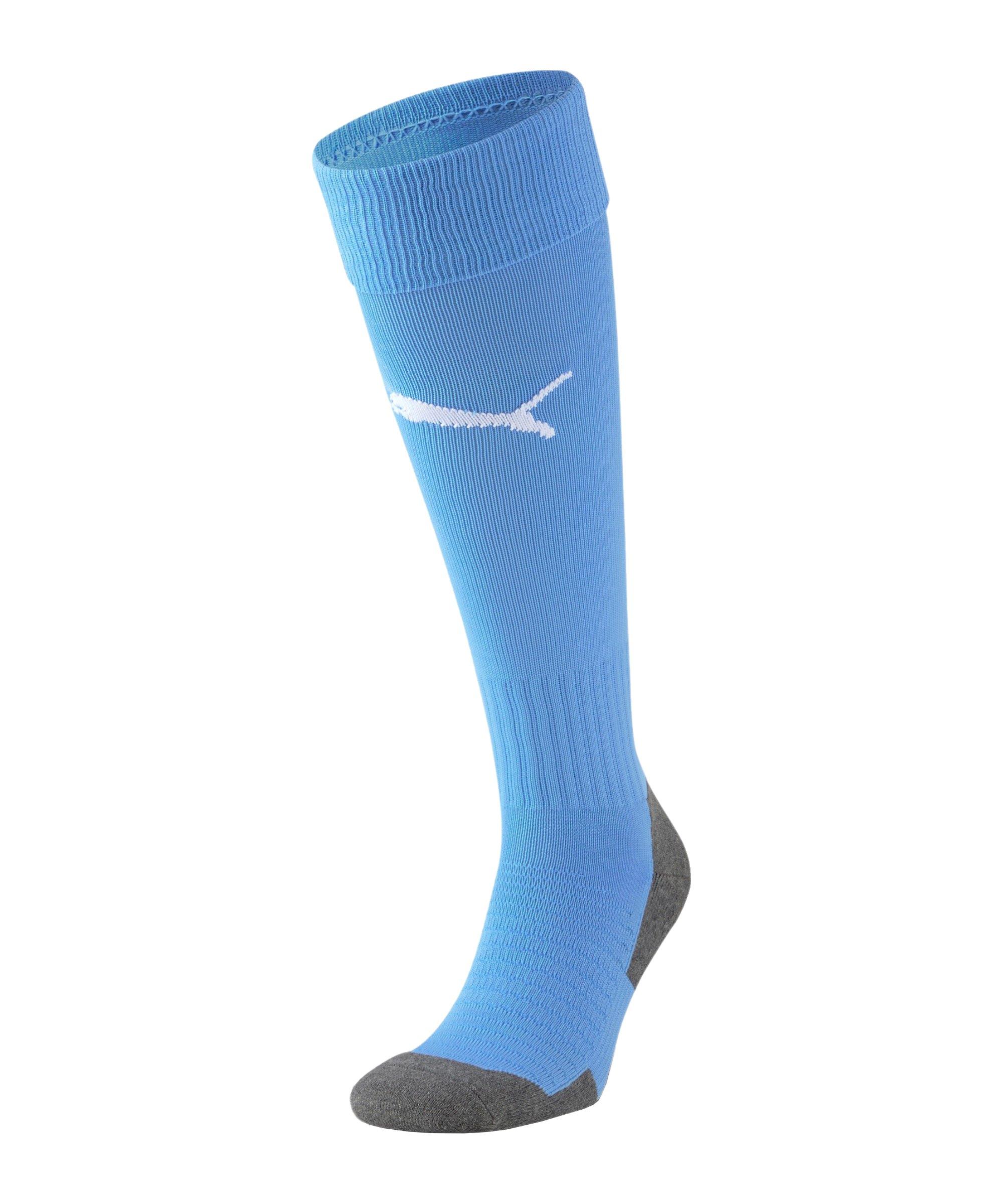 PUMA teamLIGA Core Stutzenstrumpf Blau F50 - blau