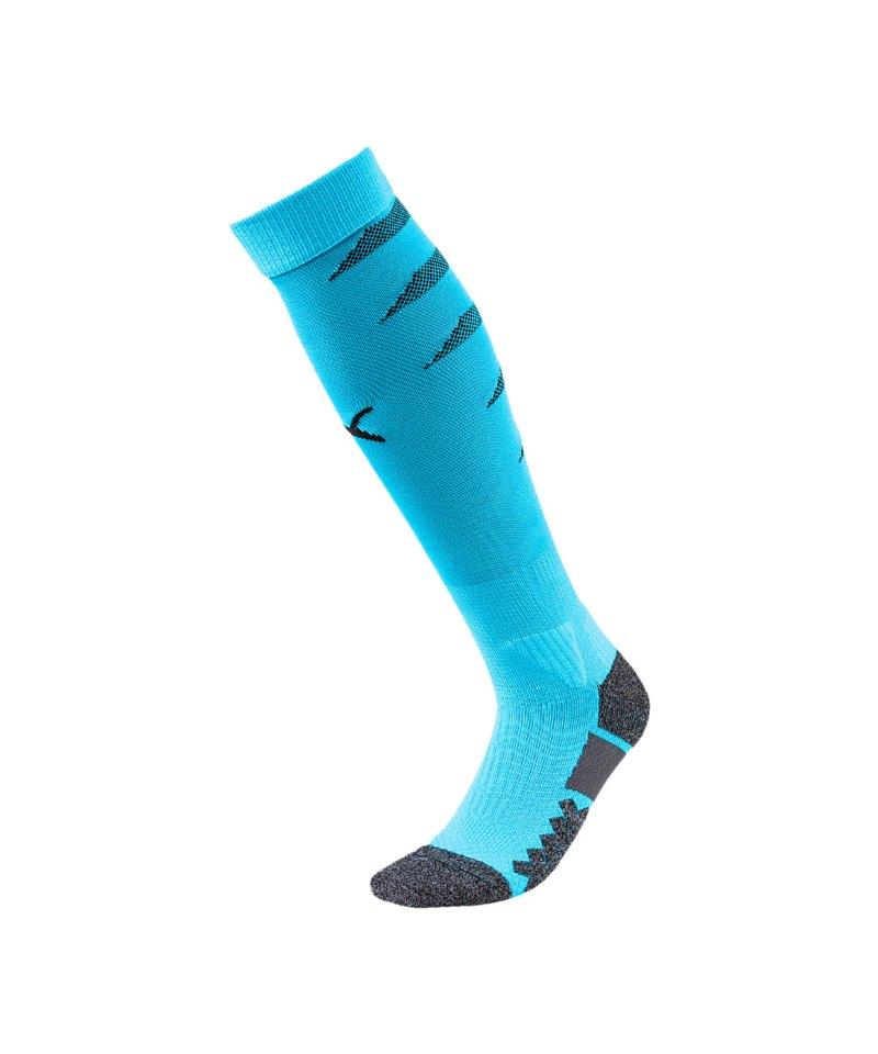 PUMA FINAL Socks Stutzenstrumpf Blau Schwarz F20 - blau