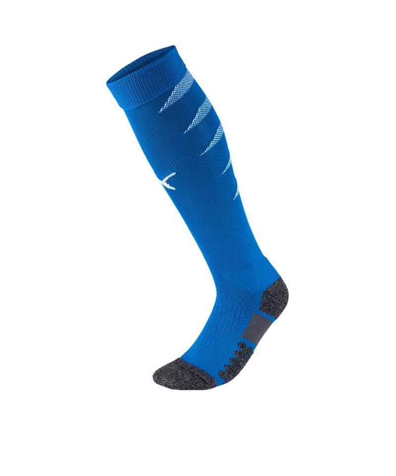 PUMA FINAL Socks Stutzenstrumpf Blau Weiss F02 - blau