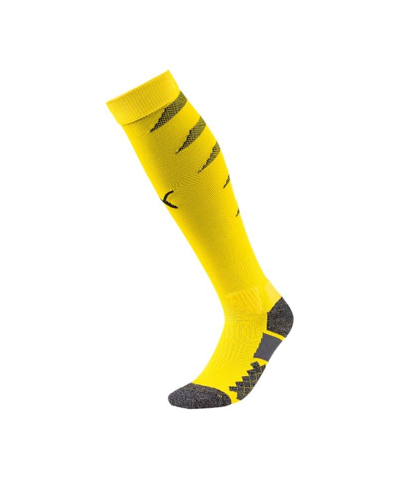 PUMA FINAL Socks Stutzenstrumpf Gelb Schwarz F07 - gelb