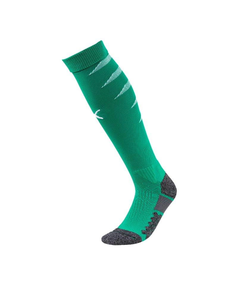 PUMA FINAL Socks Stutzenstrumpf Grün Weiss F05 - gruen