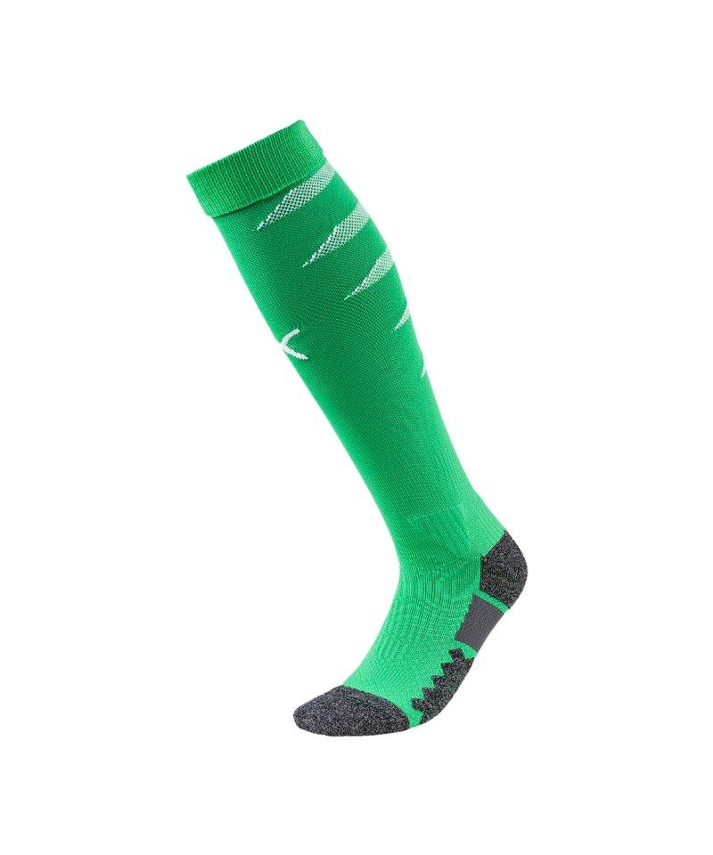 PUMA FINAL Socks Stutzenstrumpf Grün Weiss F19 - gruen
