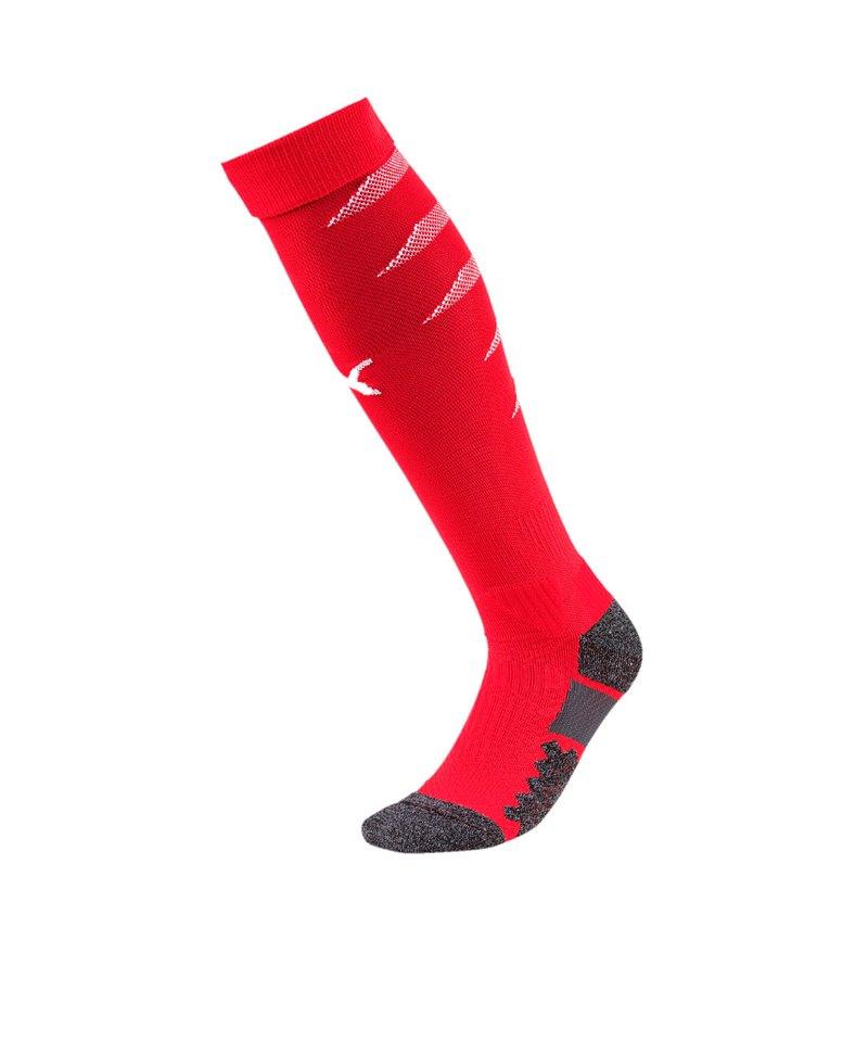 PUMA FINAL Socks Stutzenstrumpf Rot Weiss F01 - rot