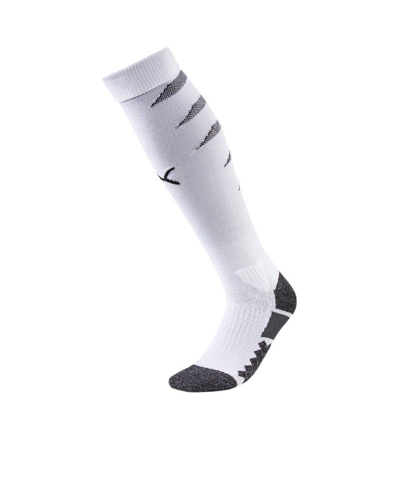 PUMA FINAL Socks Stutzenstrumpf Weiss Schwarz F04 - weiss