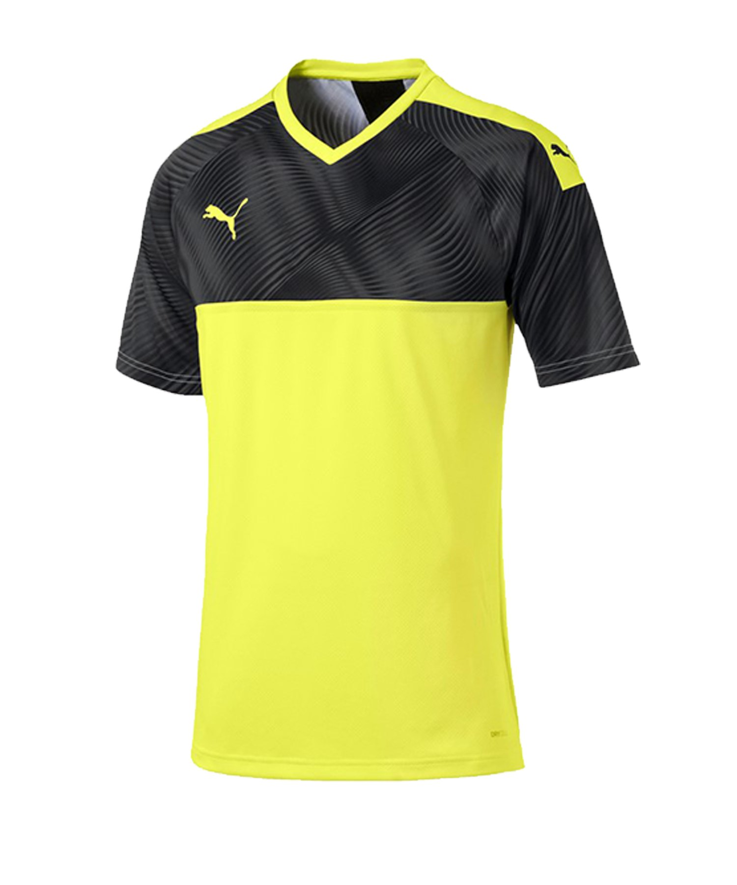 PUMA CUP Jersey Trikot kurzarm Gelb Schwarz F46 - gelb