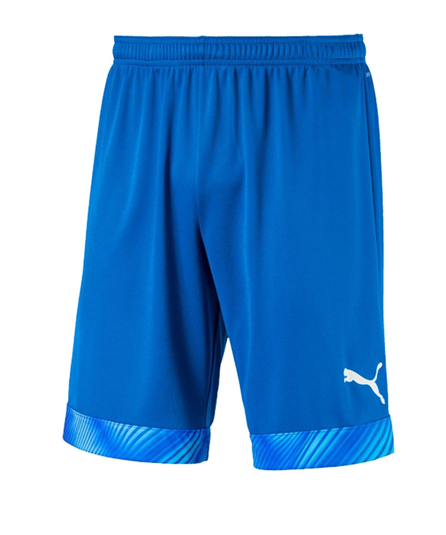 PUMA CUP Short Blau Weiss F02 - blau